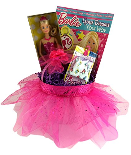 Barbie Themed Gift Box for Girls Kids Crafts Birthdays, Get Well, Prizes for Game or Fun Basket (Princess Gift Baskets)