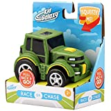 "Kid Galaxy 10936 Pull Back 'n Roll Farm Tractor. Wind up Toy Vehicle for Kids & Toddlers Age 2 & up Vehicle, Green, 4"" x 3"" x 3"""