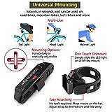 Volcano Eye Bike Rear Tail Light (2 Packs), USB