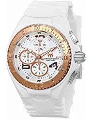 Technomarine Womens Cruise Quartz Stainless Steel and Silicone Casual Watch, Color:White (Model: TM-115104)