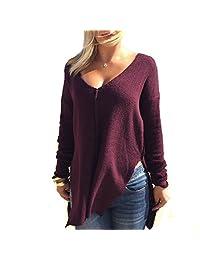 TRURENDI New Womens Loose Long Sleeve Knitted Outwear Coat Sweater
