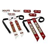 Franklin Sports San Francisco 49ERS Flag Football Set – 8 Flag Belts – 8 Player – Self Stick Tear-Away Flags – NFL Official Licensed Product