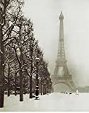 Paris In The Snow (Eiffel Tower) Art Poster Print - 16x20 Art Poster Print, 8x20