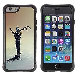 Suave TPU GEL Carcasa Funda Silicona Blando Estuche Caso de protección (para) Apple Iphone 6 PLUS 5.5 / CECELL Phone case / / Space Sci Fi Warrior /
