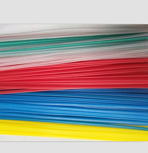50PCS Yellow/Red/Green/Blue/Transparent PP plastic welding rods PP welder rods for hot air gun 1pc=25cm length by SUYWT