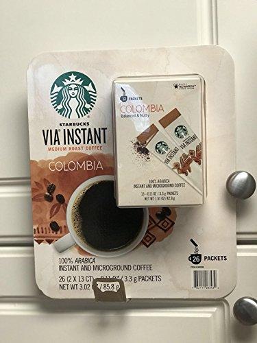 Starbucks Colombia via instant medium roast coffee 26 pcs