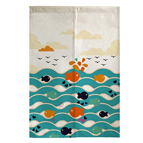George Jimmy Sushi Bar Restaurant Decor Door Hallway Curtain Japanese Noren Entrance Curtain, 01