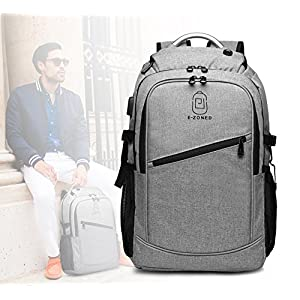 Business Laptop Backpack, 17 Inch Laptop Backpack Computer Bag For Women Men , Large Waterproof backpack with USB Charging Port and Headphone Port and Al Handle for Work, School, Travel, Business