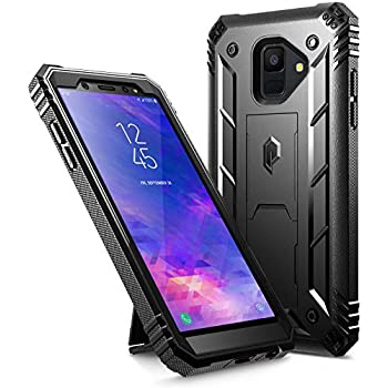 Galaxy A6 Kickstand Rugged Case, Poetic Revolution Full-Body Rugged Heavy Duty Case with [Built-in-Screen Protector] for Samsung Galaxy A6 (2018)(Do ...