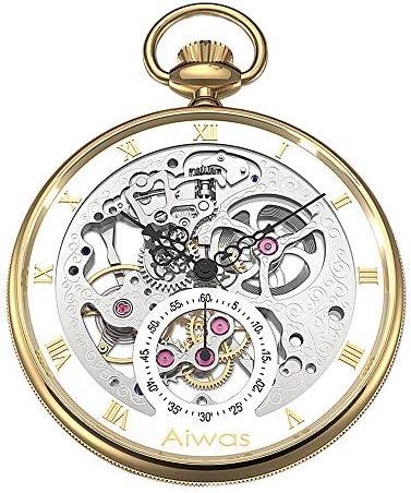 古典石英ホワイトリスト懐中表小柄な機械懐中表男の時計のネックレス时计の看护妇の表记の学生の表记の胸部の银白,Gold