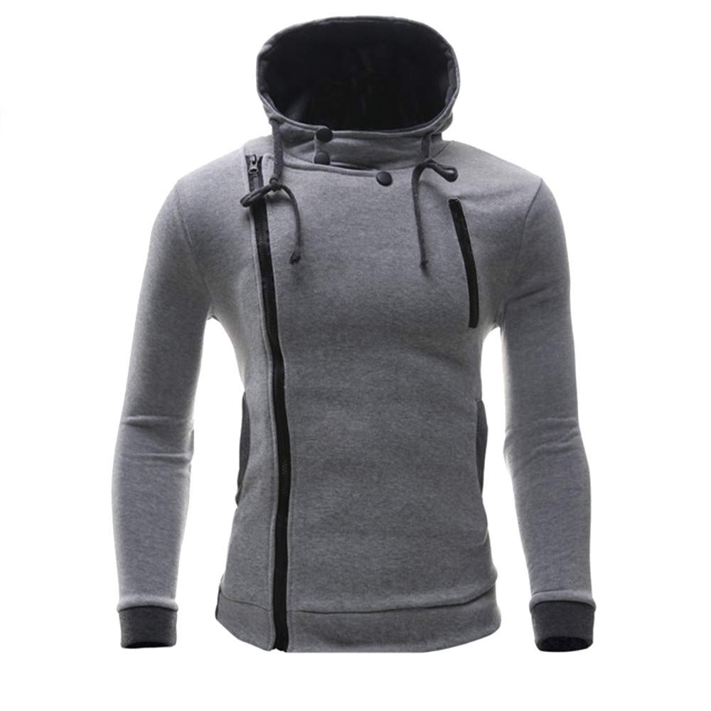 Corriee Fashion Tops for Men 2018 Plus Size Long Sleeve Cotton Casual Hooded Pullover Men's Autumn Winter Coat