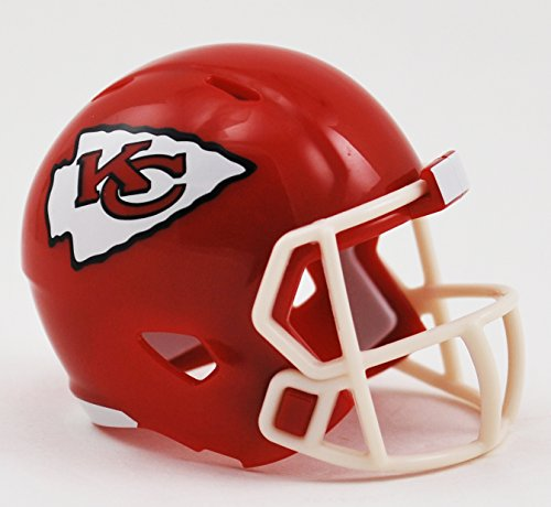 (Kansas City Chiefs NFL Riddell Speed Pocket PRO Micro/Pocket-Size/Mini Football Helmet)