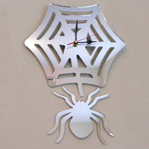 Spider Web Clock (Spider & Web Clock Mirror 40cm x)