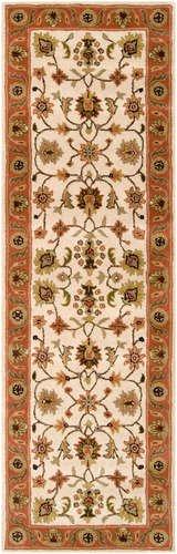 Crowne Beige Rug (Golden Beige Runner Traditional rug by Surya Crowne in)