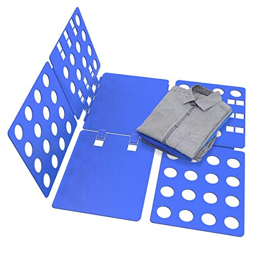 NISUNS Tshirt Folding Board Easy and Fast fold Clothes, Durable Plastic Laundry folders Folding Boards, Blue