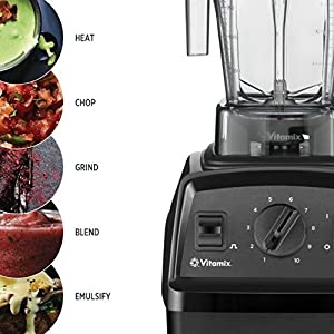 Vitamix Explorian Blender, Professional-Grade, 64 oz. Container, Black (Certified Refurbished)