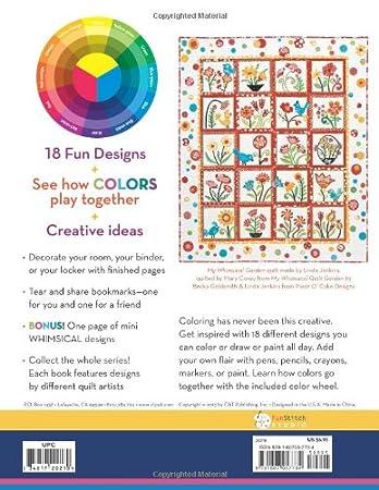Amazon FunStitch Studio Whimsical Design Coloring Book Piece O Cake Designs Arts Crafts Sewing
