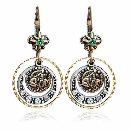 Gemini Zodiac Sign Astrology Earrings - May and June Birthday Gifts