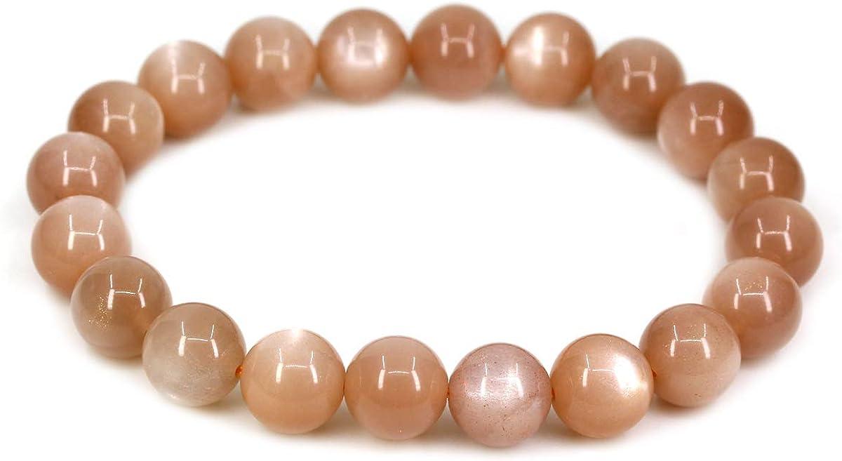 Chenyue Bracelet extensible en pierres semi-pr/écieuses 10 mm avec perles rondes 17,8 cm Unisexe