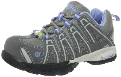Esd Work Shoes (Nautilus 1391 Women's ESD Comp Safety Toe No Exposed Metal Athletic Shoe,Grey,8 W US)