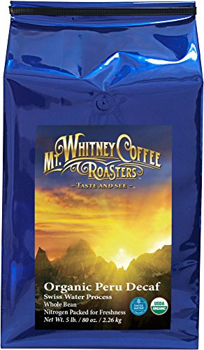 Organic Shade Grown Peru Medium Roast Coffee Whole Bean 5lb