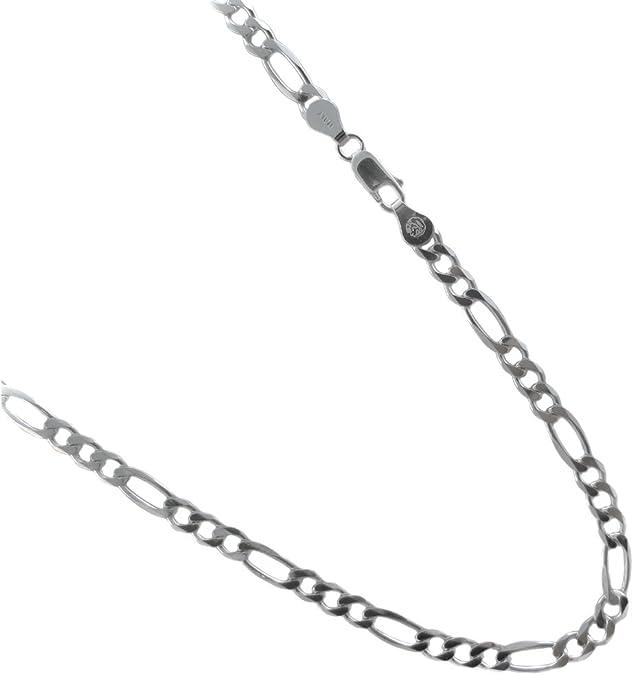 16,18,20,22,24,30 inches JOSCO 3mm Sterling Silver Figaro Chain 925 Italian Necklace