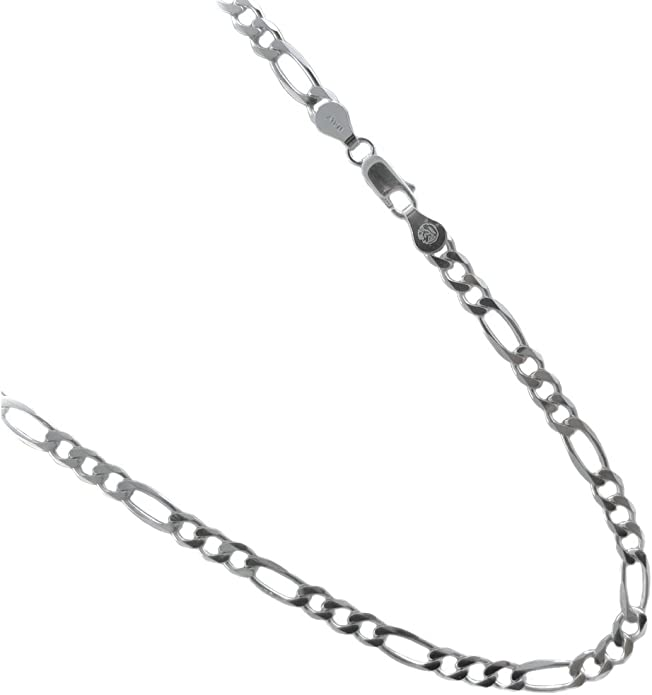 """18/"""" /& 20/"""" Details about  /Sterling Silver 2mm Figaro Chain In 16/"""""""