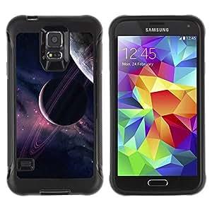 Paccase / Suave TPU GEL Caso Carcasa de Protección Funda para - Planets Universe Sky Purple Stars Cosmos - Samsung Galaxy S5 SM-G900