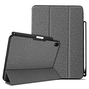 """ProCase Smart Case for iPad Pro 11"""" 2018, Slim Folio Stand Case Protective Cover for Apple iPad Pro 11 Inch 2018 Release with Apple Pencil Holder –Gray"""