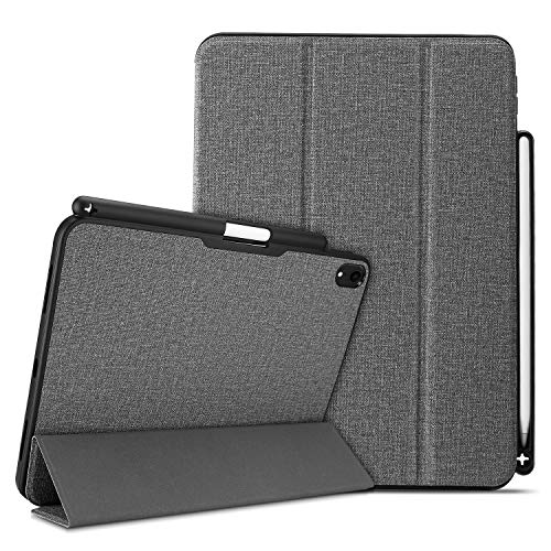 ProCase Smart Case for iPad Pro 11 2018, Slim Folio Stand Case Protective Cover for Apple iPad Pro 11 Inch 2018 Release with Apple Pencil Holder –Gray