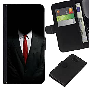 KLONGSHOP // Tirón de la caja Cartera de cuero con ranuras para tarjetas - ANÓNIMO SUIT - Samsung ALPHA G850 //