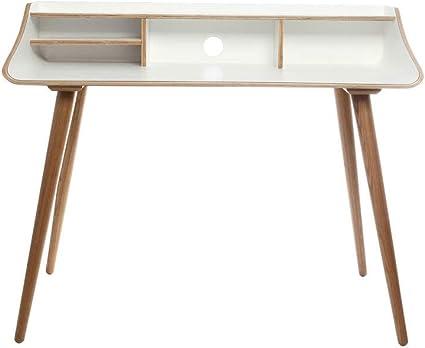 bureau scandinave finition bois teinte blanc nordeco