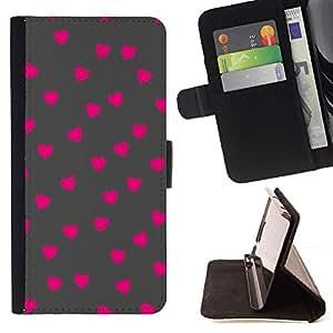 Momo Phone Case / Flip Funda de Cuero Case Cover - Rosa Modelo de lunar gris - Sony Xperia Z2 D6502