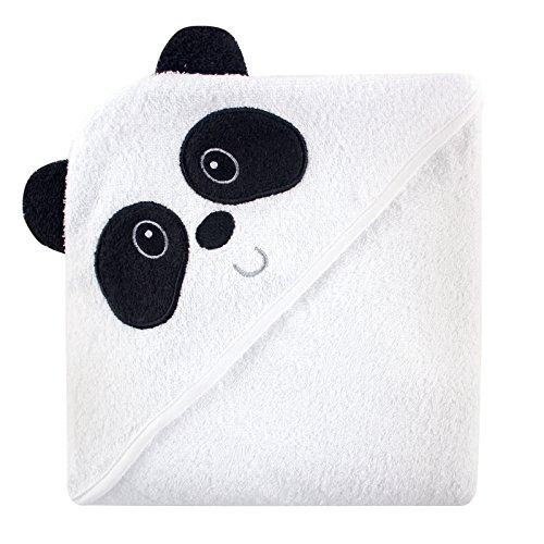 Luvable Friends Animal Face Hooded Terry Towel - Panda