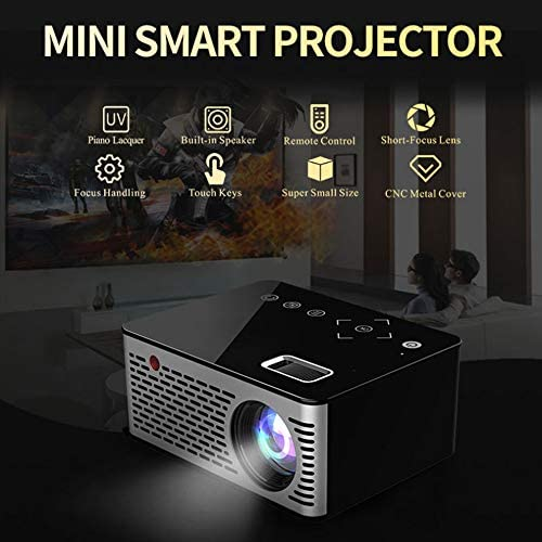 TONGTONG LED Mini proyector HD portátil HDMI USB AV Soporte Power ...