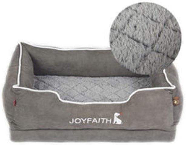 TYLDZ 犬小屋、犬ソファ、中小ドッグベッド大型犬スリーピングマット、犬ソファ/犬マット/フォーシーズンズユニバーサルペット用品。(利用可能な3つのサイズ) (Color : Gray, Size : M)