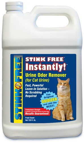 STINK FREE Instantly Urine Odor Remover for Cat Urine, 128 Oz (1 Gallon), My Pet Supplies
