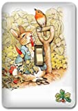 Peter Rabbit Metal Light Switch Plate Cover Benjamin Nursery Home Decor 624