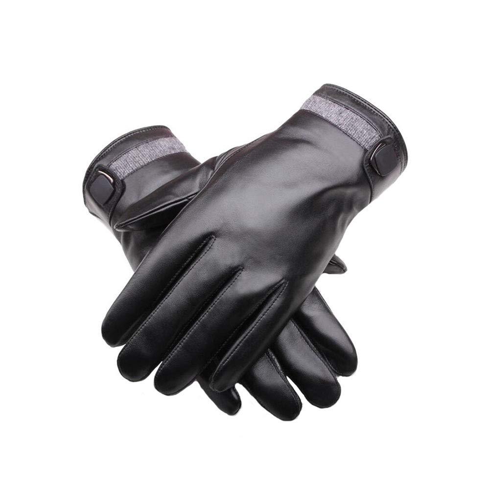 && Lederhandschuhe Männer Im Freien Warme Handschuhe Winter Licht Und Flexible Touchscreen Fahren