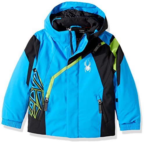 Spyder Mini Challenger Ski Jacket, French Blue/Black/Fresh, Size 7