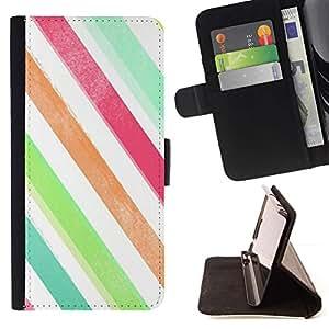 For Samsung Galaxy J3(2016) J320F J320P J320M J320Y Case , Colores Blanco Verde trullo- la tarjeta de Crédito Slots PU Funda de cuero Monedero caso cubierta de piel