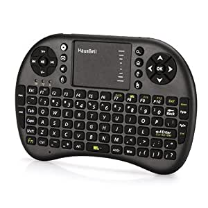 hausbell mini h7 2 4ghz wireless entertainment keyboard with touchpad for pc pad. Black Bedroom Furniture Sets. Home Design Ideas