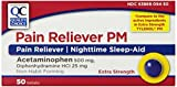 Quality Choice Extra Strength Non-aspirin Pain Relief/sleep Aid Geltabs 50-Count, Boxes (Pack of 4) by Quality Choice