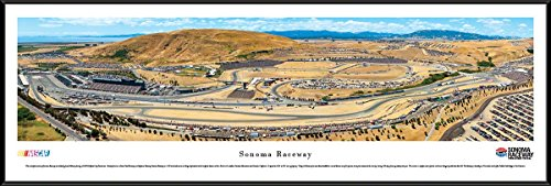 Nascar Picture Frame - Sonoma Raceway - Blakeway Panoramas NASCAR Posters with Standard Frame,13.75