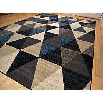 Premium plush modern rugs for living room 8x10 - Navy rug living room ...