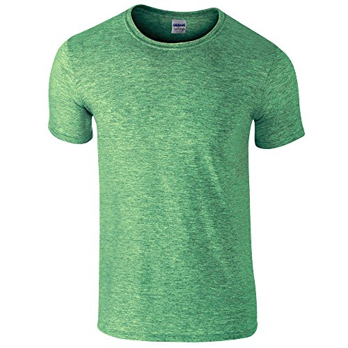 - Adult Softstyle 4.5 oz. T-Shirt (HTHR IRISH GREEN S)