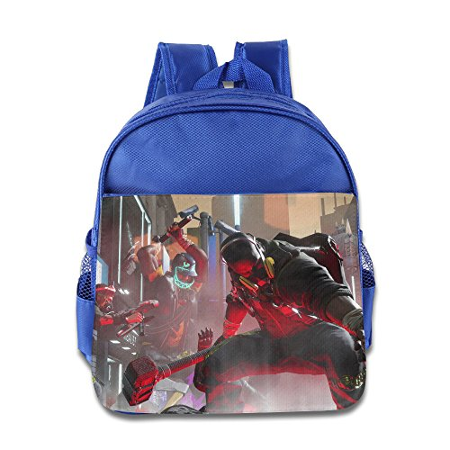 Price comparison product image XJBD Custom Cute Smash+Grab Children School Bag For 1-6 Years Old RoyalBlue