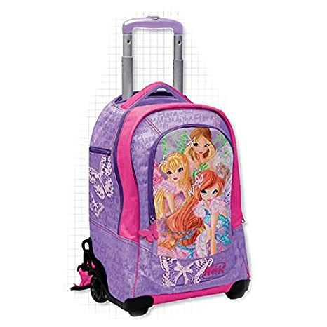 50f26a8fff Winx - Zaino Trolley Deluxe con gadget - scuola 2016-2017: Amazon.it ...