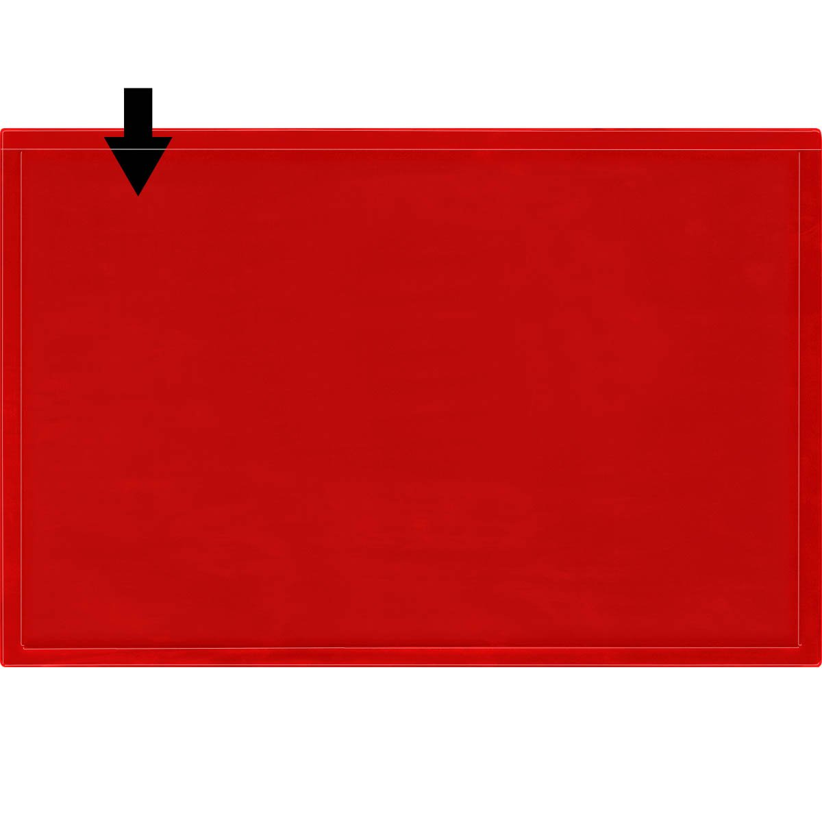 StoreSMART - Red Document Frame (Window) - Magnetic - 11'' x 17'' Pages - 10-Pack - R3871M-R-10 by StoreSMART (Image #2)