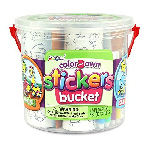 ArtSkills Color Your Own Sticker Bucket, 850 Count